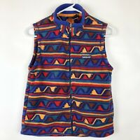 Patagonia Kids Boys Girls Size 10 Fleece Zip Up Vest Southwest Aztec Geo Blue