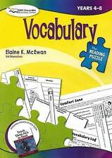 Vocabulary, Years 4-8 by Elaine McEwen (Paperback, 2008)