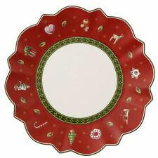 Villeroy & and Boch Christmas TOY'S DELIGHT red side / bread plate 17cm NEW