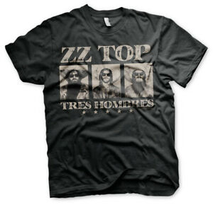 ZZ-Top Billy Gibbons Tres Hombres con licencia Camiseta hombre