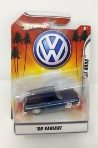 1969 Volkswagen VW Variant 1/50 Blue Hot Wheels Rat Rods New CL