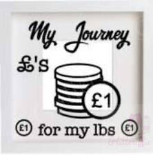 MY JOURNEY £'s FOR MY LBS WEIGHT LOSS VINYL DECAL STICKER IKEA RIBBA BOX FRAME