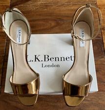LK Bennett Leather Gold Helena Sandals UK 7 40 BNWT RRP £195