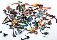 LEGO LOT OF MINIFIGURE ACCESSORIES WEAPON PIECES TOOLS TOWN ITEM PARTS