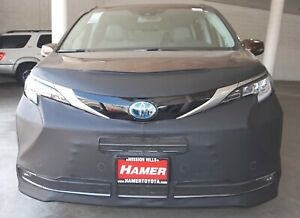 Lebra Front End Mask Cover Bra Fits Toyota Sienna 2021 21 W/Lic. Plate Bracket