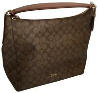 Coach Celeste Convertible Hobo / Crossbody In Signature Coated Canvas NWT