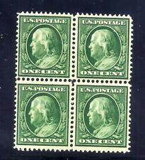 US Stamps - #374 - MNH/MH - 1 cent Franklin Issue - Block - CV $40