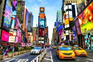 Jigsaw Puzzles 1000 Pieces Times Square For Adult Education Toy Game Gift