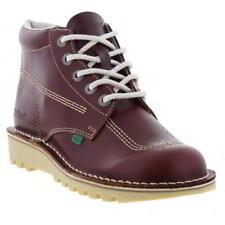 Kickers Kick Hi Mens Boys School BOOTS Leather UK Size 6 7 8 9 10 11 Burgundy EU 42