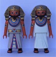 Playmobil History   2 x Egyptian Pharaoh's      Good Condition