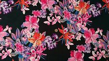 Best Quality Stretch Poly Lycra Scuba Fabric/Material - Multicolour Floral Print