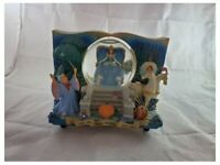 Vintage Disney Cinderella Book Once Upon A Time Music Snow Globe USED RARE