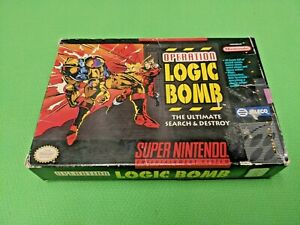 Operation Logic Bomb - Box Only NO GAME OR MANUAL SNES Super Nintendo