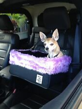 Small Black Dog Car Booster Seat (Butterfly lining) Dogs Out Doing *