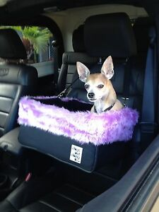 Small Black Dog Car Booster Seat (Butterfly lining) Dogs Out Doing
