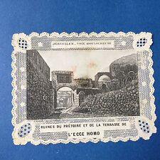 CANIVET - Jerusalem Via Dolorosa XIXè Image Pieuse HOLY CARD 19thC Santino
