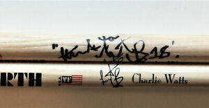 Charlie Watts hand signed Drumsticks (1 signed), The Rolling Stones