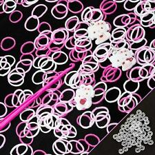 200 Hello Kitty Rubber Loom Bands Includes Hook & S-Clips (G65)