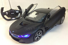 BMW i8 Remote Control RC Car LED Lights Remote Control Opening Doors 1/14 black