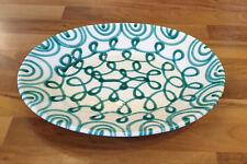 Gmundner Keramik große grün geflammte Fleischplatte 42,5 cm breit