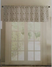 "BRAND NEW Madison Park Delray Grey Gray Diamond Printed Window Valance 50"" x 18"""