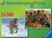 puzzle  tigres 2 x 500 ravensburger 14099