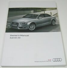 NEW GENUINE AUDI A4 S4 B8 OWNERS MANUAL HANDBOOK - 11/2012 EDITION