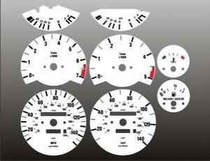 1984-1991 BMW E30 325 325e 325i Dash Cluster White Face Gauges 84-91