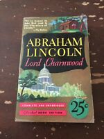 1939 Abraham Lincoln by Lord Charnwood Pocket Book Paperback 2nd Printing