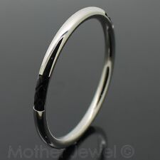64MM STAINLESS STEEL BLACK LEATHER INSIDE CUTOUT 6MM THICK GOLF BANGLE BRACELET