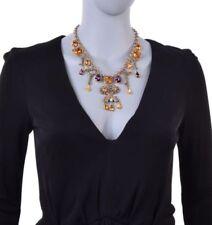 Brass Round Charm Costume Necklaces & Pendants