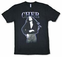 Cher Purple Outline Vintage Pic Black T Shirt New Official Merch