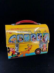 RARE Alternative characters Disney School Bus Lunch Box PAYVA Vintage Lunchbox
