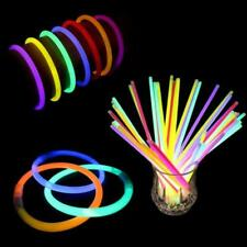 100- 8''Glow Sticks Light up Bracelets Necklaces Neon Party Favor Supplies