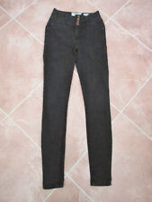 "New Look - Womens Faded Black ""Yazmin"" High Waist Skinny Jeans - size 6"