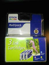 MULTIPACK CARTOUCHE ENCRE ORIGINAL EPSON T0481 T0482 T0483  T048C40