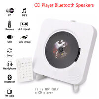 CD Player Wall Mountable Bluetooth Audio Box FM Radio MP3 Speakers with Remote