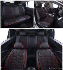 BMW 3 5 7 X1 X3 X5 X6 Série Siège Housses Noir PU Cuir & Tissu Set Complet
