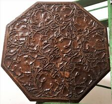 Grapes wine table top panel Antique french wood carving salvaged furniture