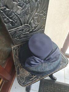 Ladies navy blue wedding hat