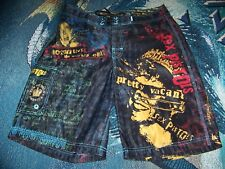 Vintage Sex Pistols America Band Dragonfly Swim Suit Surf Trunks Board Shorts 32