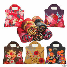Envirosax Bloom Gift Set of 5 LARGE Reusable Roll up ECO Shopping Bags in POUCH
