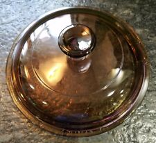 pyrex corning ware amber  visions V1C lid for pot