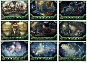 Alien Anthology E-Pack Complete Red Foil Base Set of 94 Cards Upper Deck