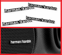4 x ALUMINIUM HARMAN KARDON Speaker Logo Emblem Badge Sticker BMW MINI BENZ AUDI