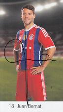 BAYERN MUNICH HAND SIGNED JUAN BERNAT CLUB CARD PHOTO.