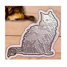 Cat Metal Die Cut stencil Long Hair Kitten Joy Craft Cutting Dies Sitting Kitty