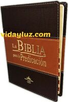 BIBLIA PASTORAL PARA LA PREDICACION REINA VALERA 1960 DUOTONO MARRON CON INDICE