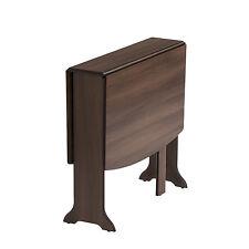 Drop Leaf Table HEATPROOF Folding Dining Kitchen Gateleg Seats 6 D-End Walnut