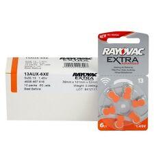 60 batterie Rayovac Extra Advanced 13 Pr48 1.45 V senza mercurio protesi udito